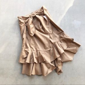 WORTHINGTON ✨NWT✨ Ruffle Faux Wrap Tie Midi Skirt